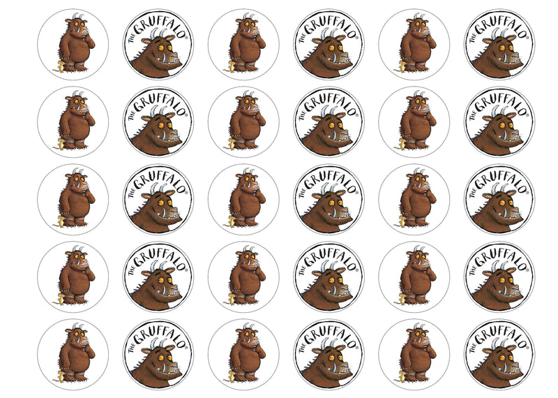 30 edible cupcake toppers of the Gruffalo
