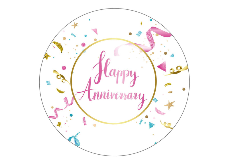 Large round cake topper suitable for an anniversary of any kind