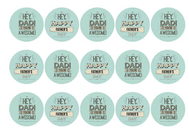 15 printed cupcake toppers with images for Father's Day