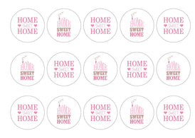Printed cupcake toppers for new home