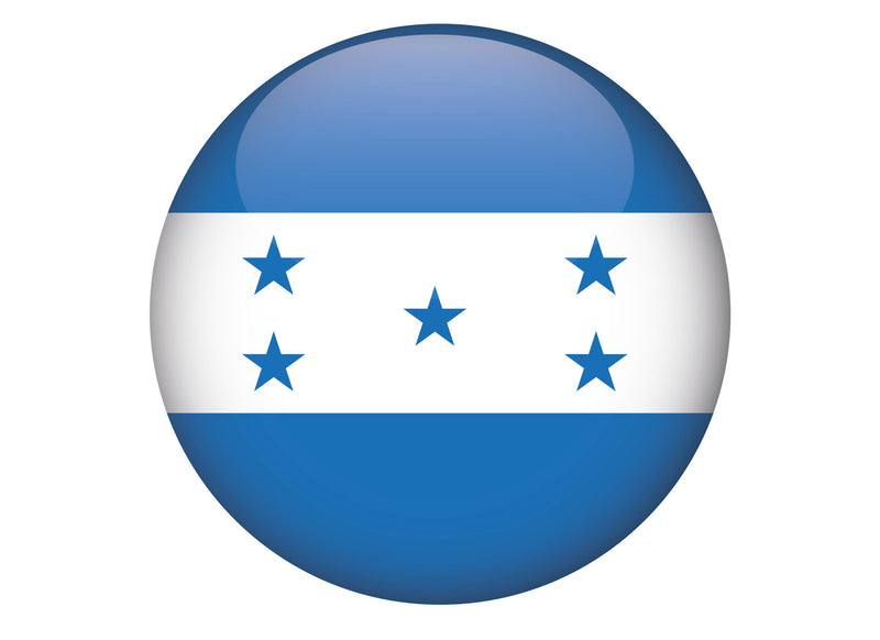 Large cake topper with the Flag of honduras