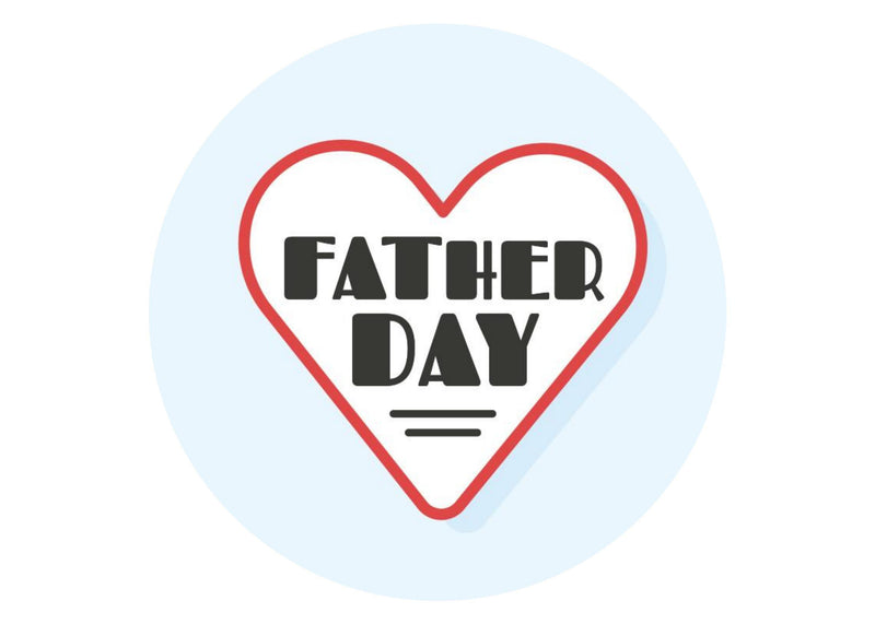 Large cake topper with retro I heart dad designs