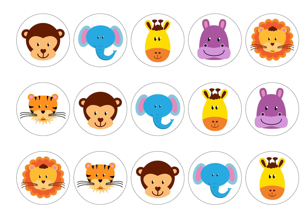 Jungle Animals – My Cupcake Toppers