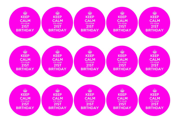 Keep Calm 21st-Edible cake toppers-Edibilis