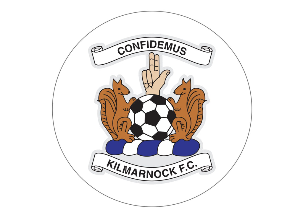 Large cake topper featuring the Kilmarnock FC Badge