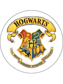 Large Harry Potter cake toppers with the Hogwarts school badge