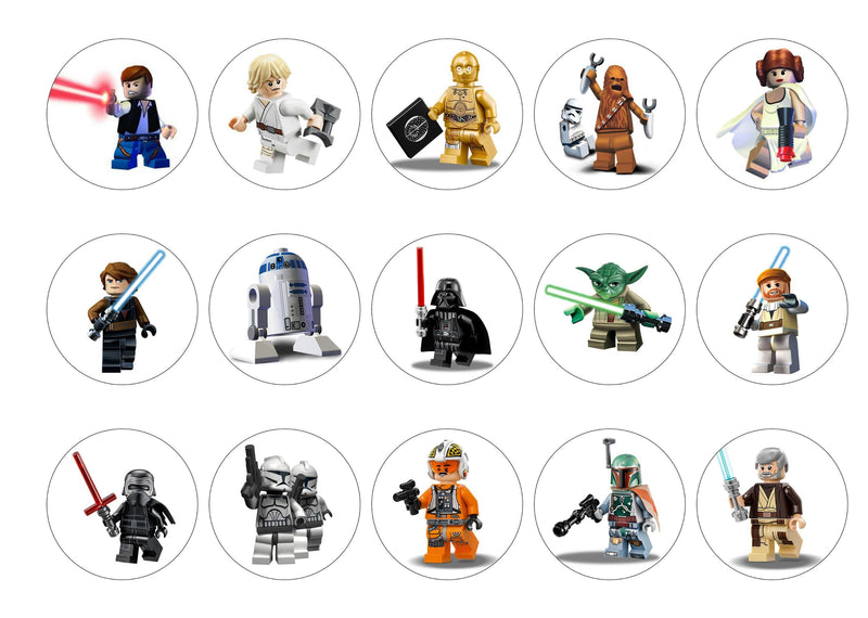 Lego Star Wars-Edible cake toppers-Edibilis