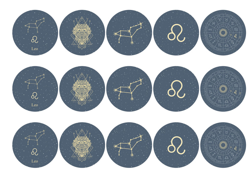 15 toppers with Leo zodiac design