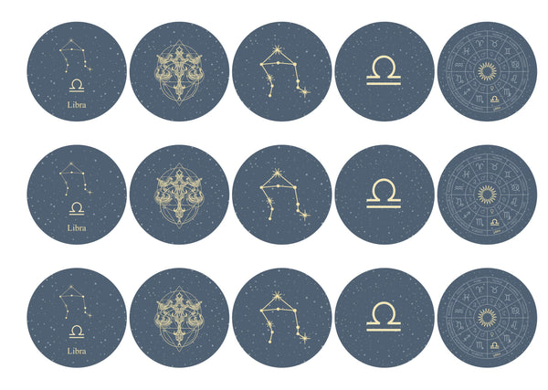 15 toppers with Libra zodiac design