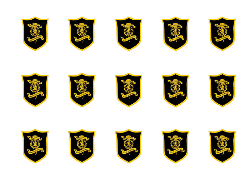 15 printed cupcake toppers with the Livingston FC badge
