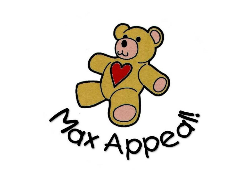 A4 printed cake topper with the Max Appeal teddy