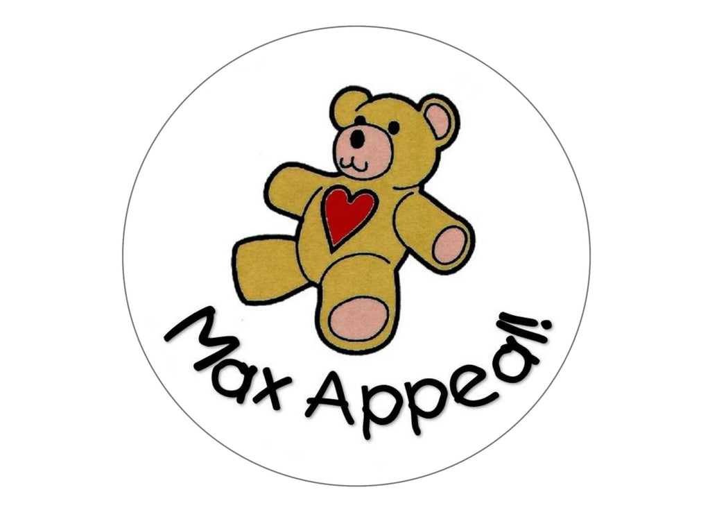 large cake topper with the Max Appeal teddy