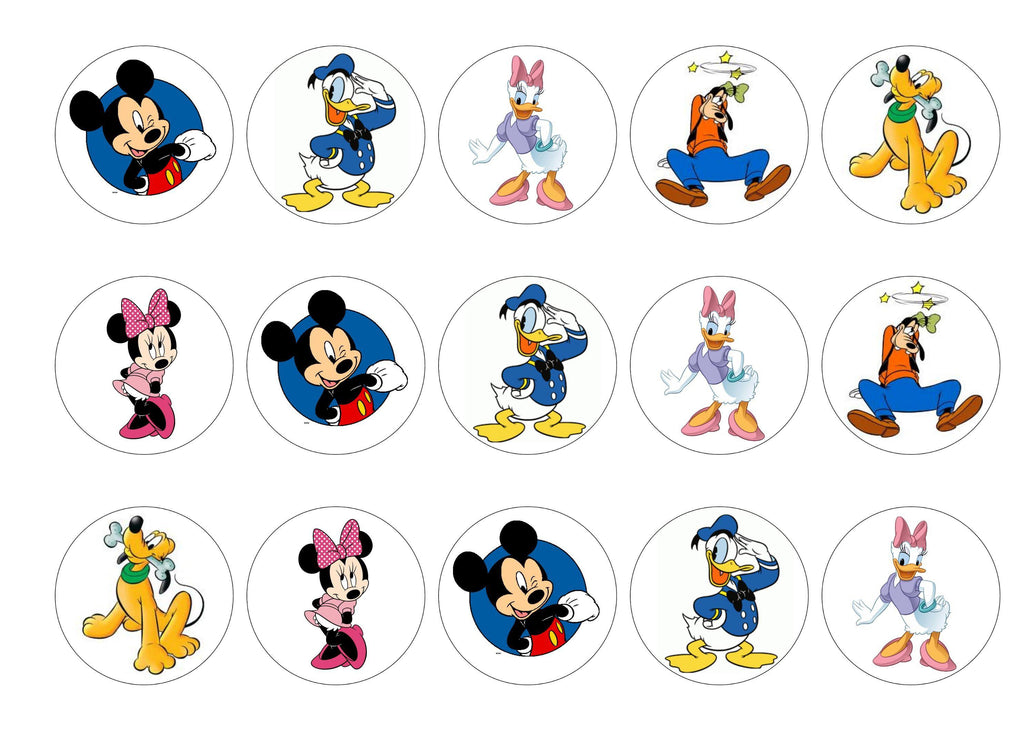 Mickey Mouse and Friends – My Cupcake Toppers