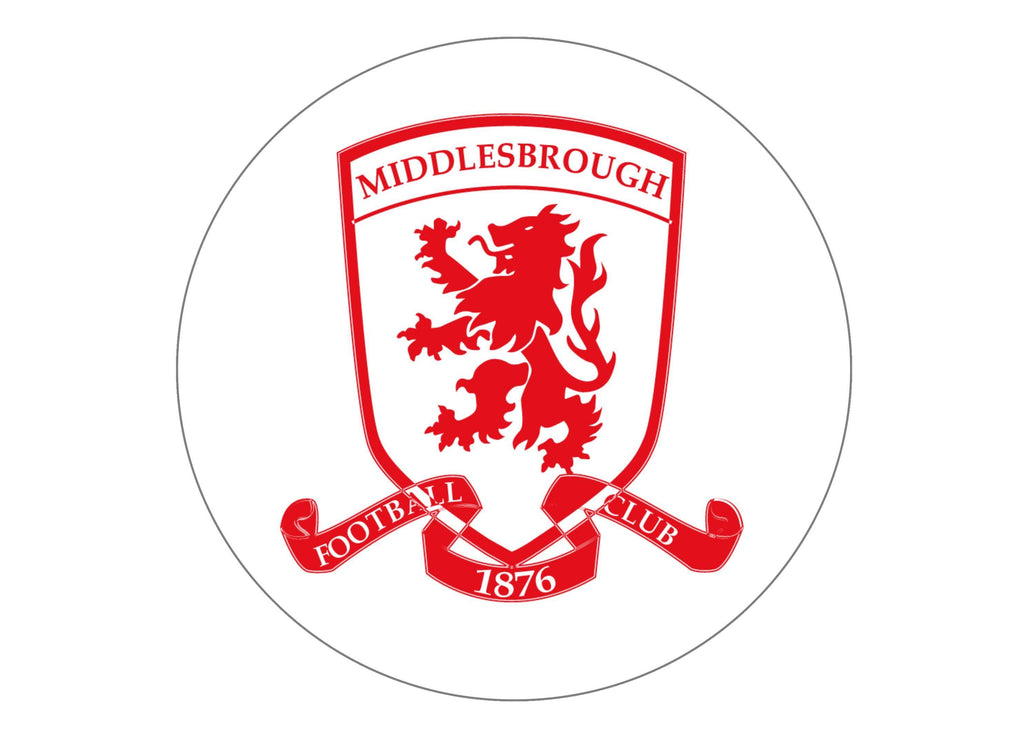 Large cake topper with the Boro badge