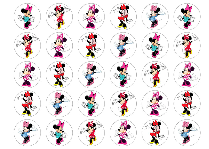 Minnie Mouse edible cupcake toppers