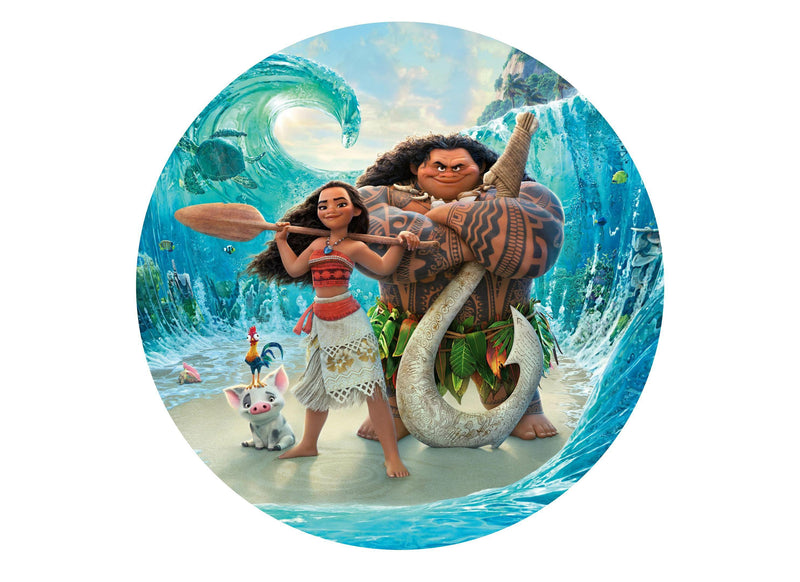 "Printed 7.5"" cake topper with Moana"