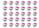 Monster High Skulls-Edible cake toppers-Edibilis