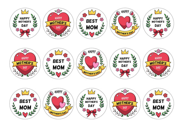 15 Mother's Day badge toppers