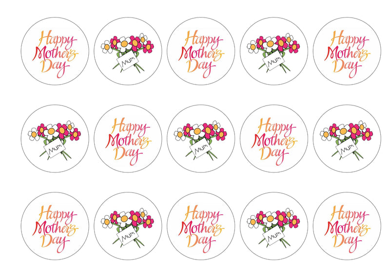 Mother's Day Flowers-Edible cake toppers-Edibilis