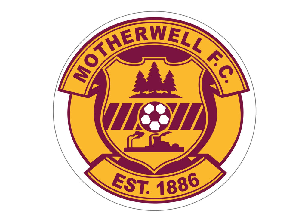 Large cake topper featuring the Motherwell Badge