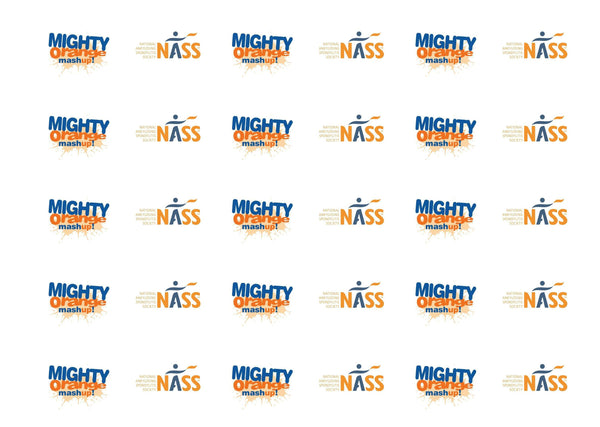 Printed cupcake toppers supporting NASS and the Mighty Orange Mashup