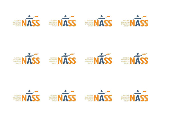 Printed cupcake toppers with the NASS logo