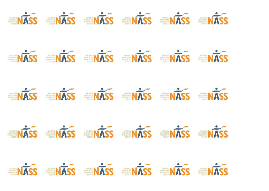 Edible cupcake toppers with the NASS logo