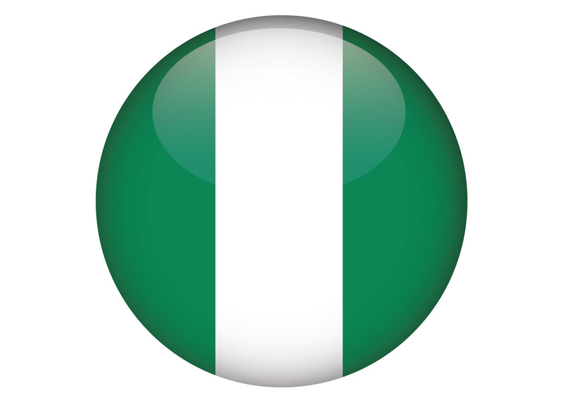 Large cake topper with the flag of Nigeria