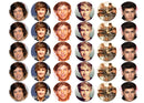 Printed edible cupcake toppers with images of One Direction