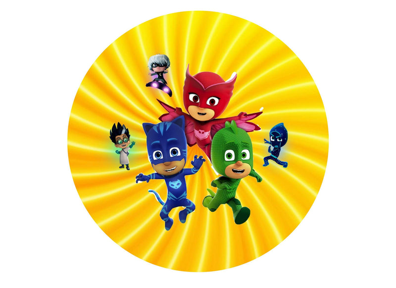 "7.5"" cake topper with PJ Masks characters"