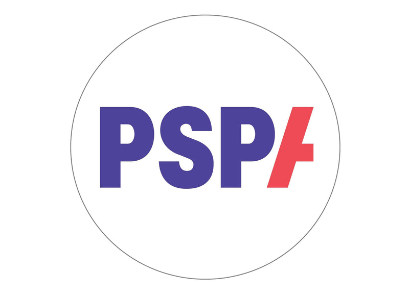 Large round cake topper with the PSPA charity logo