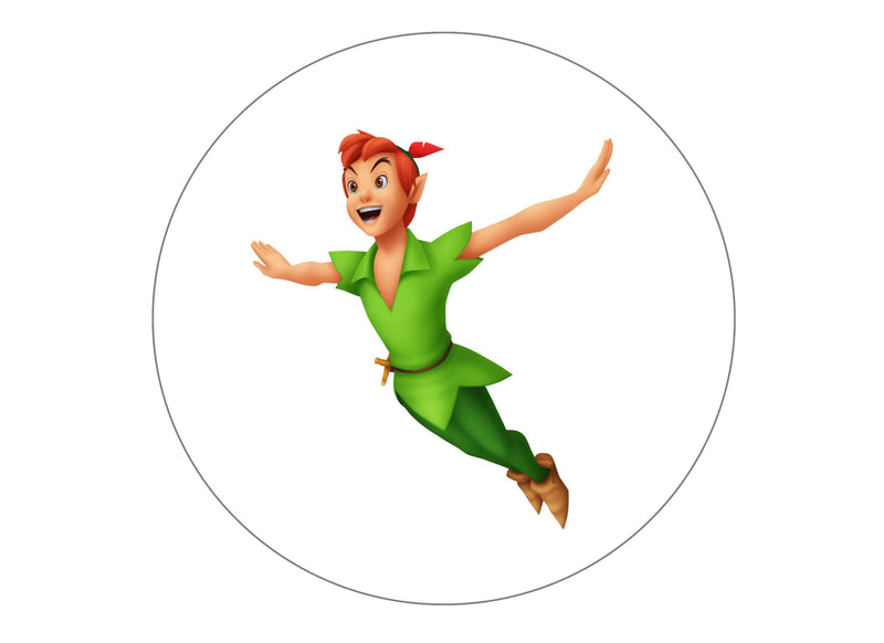 Large cake topper featuring characters from the Disney film Peter Pan
