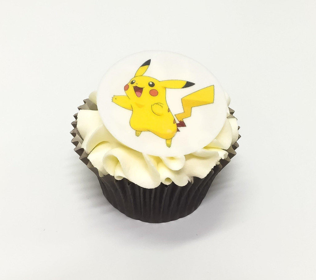 Pikachu from Pokemon edible cupcake decorations