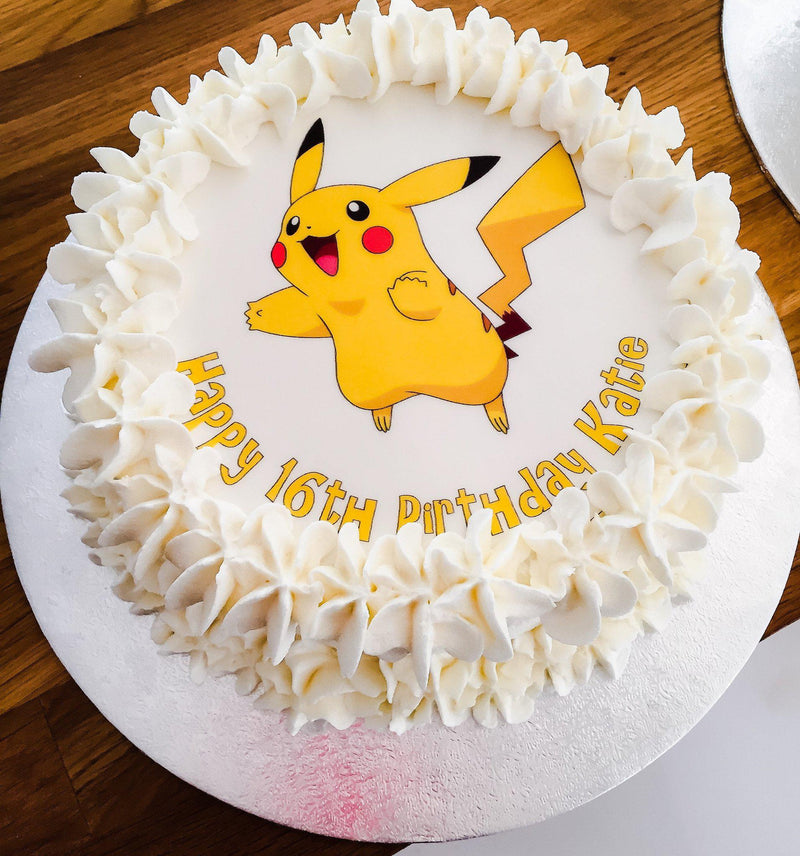 Pikachu large printed edible cake topper