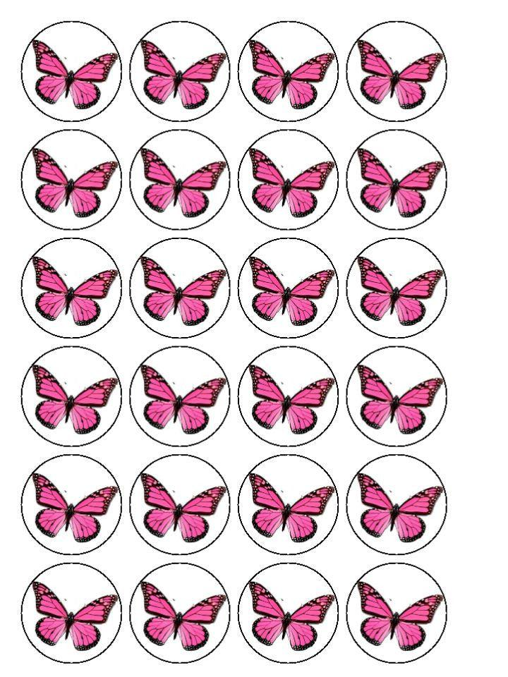 Butterfly And Flower Cupcake Toppers My Cupcake Toppers
