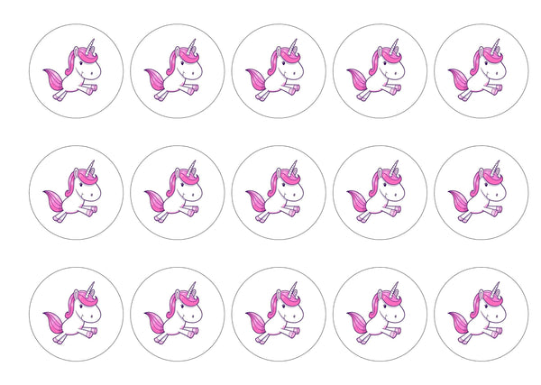 Pink Unicorn-Edible cake toppers-Edibilis