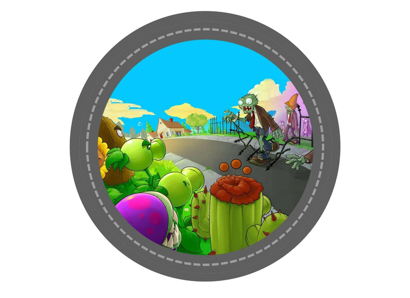 190mm printed edible cake topper with an image from Plants v Zombies - a computer game
