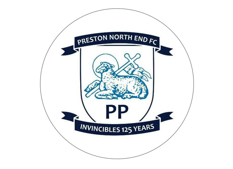 Large cake topper with the Preston North End badge