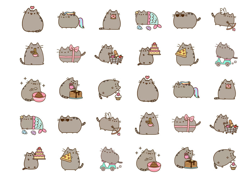 Edible cupcake toppers featuring Pusheen the Cat