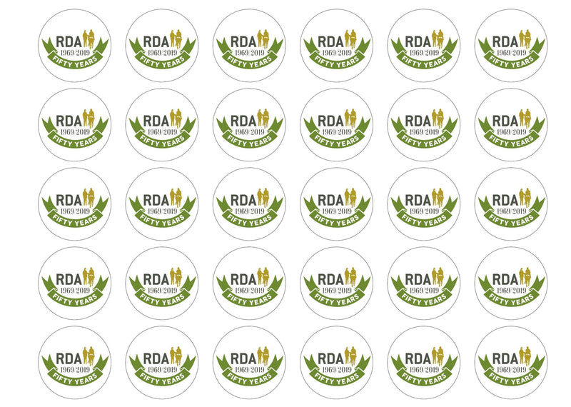 30 edible cupcake toppers supporting RDA