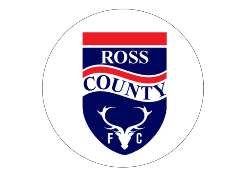 Large cake topper with the Ross County badge