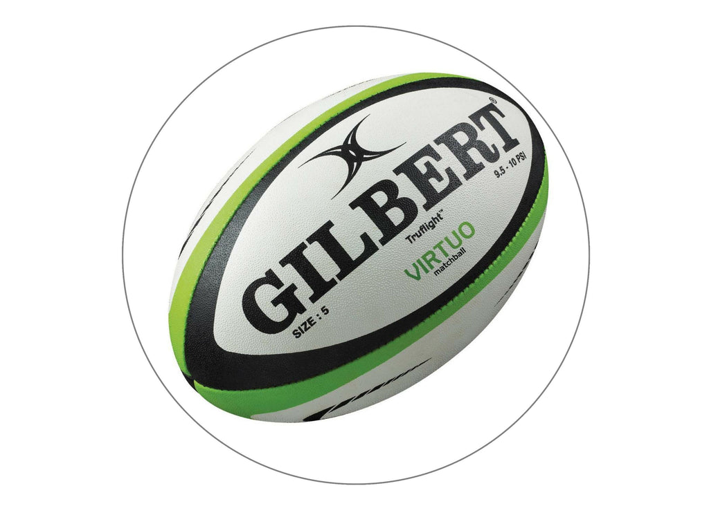 large cake topper with a rugby ball image