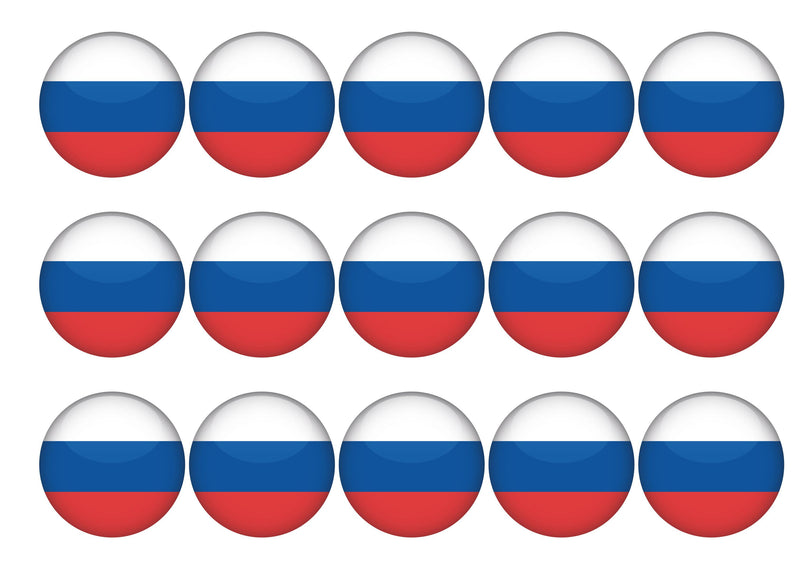 15 toppers with the Russian Flag