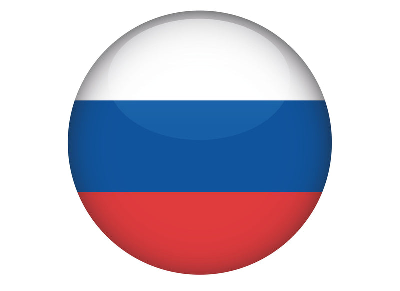 Large cake topper with the Russian Flag