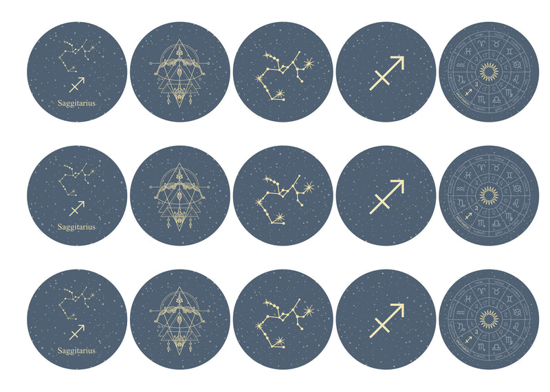 15 Saggitarius themed zodiac star sign toppers