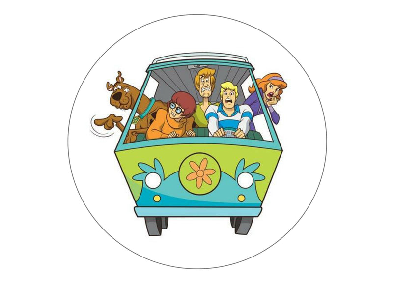 Large cake topper with Scooby Doo image