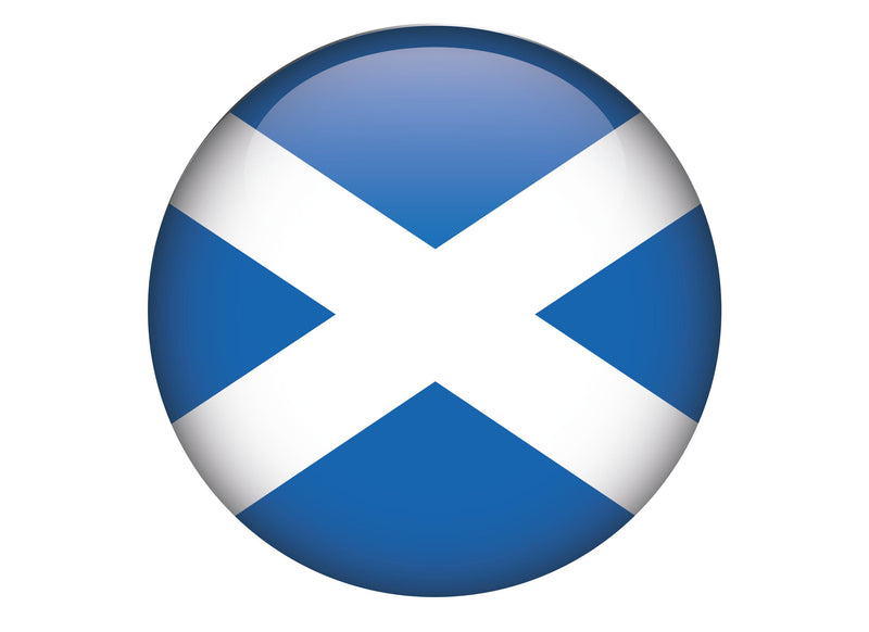 Large cake topper with Scotland flag