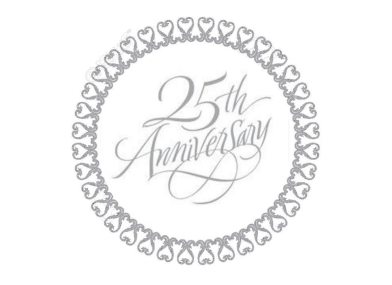 "7.5"" cake topper for silver anniversary"