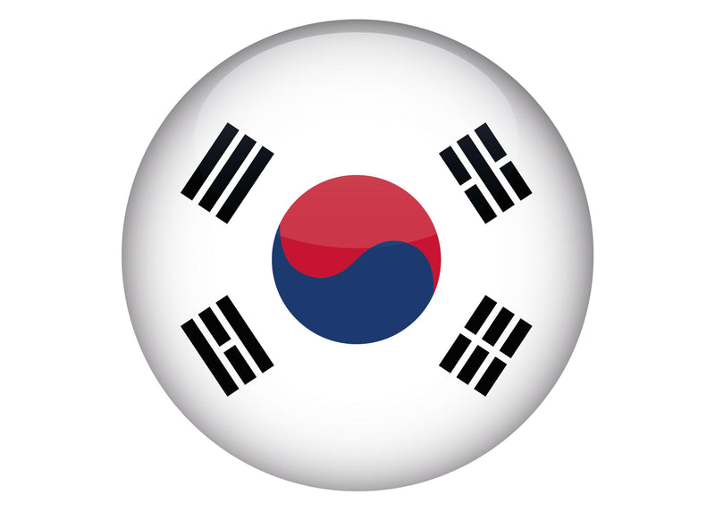 Large cake topper with the flag of South Korea