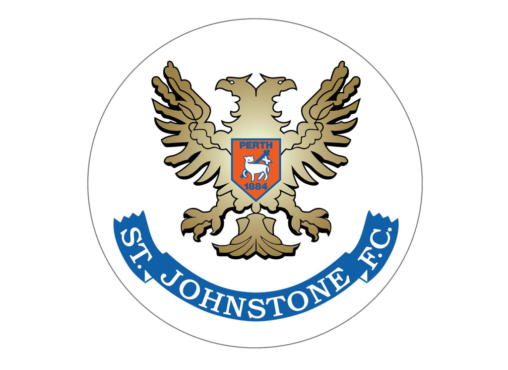 Large cake topper with the St Johnstone Badge